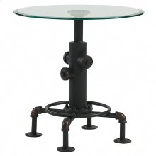 Bronx Accent Table in Antique Black