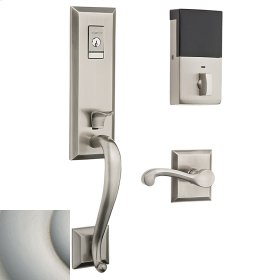 Satin Nickel with Lifetime Finish Evolved Stonegate Handleset