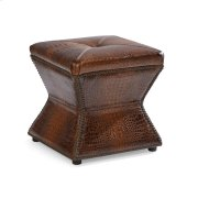 Ridgeway Ottoman - Gator Tail Chocolate Sale! Product Image