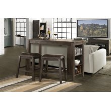 Spencer 3-piece Counter Height Dining With Backless Stools - Dark Espresso (wirebrush)