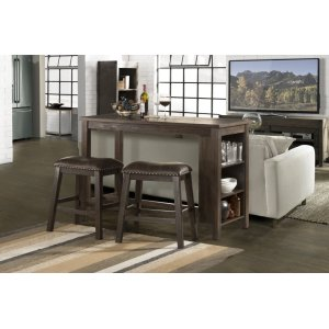 Hillsdale FurnitureSpencer 3-piece Counter Height Dining With Backless Stools - Dark Espresso (wirebrush)