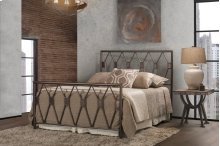 Tripoli Queen Bed Set With Rails (black Pewter)