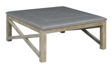 Square Upholstered Table-gray #cp002