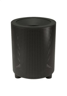 District Round Waste Receptacle, Square Pattern