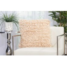 "Shag Dl058 Beige 20"" X 20"" Throw Pillows"
