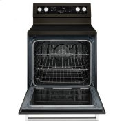 KitchenAid® 30-Inch 5-Element Electric Convection Range - Black Stainless Product Image