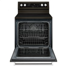 KitchenAid® 30-Inch 5-Element Electric Convection Range - Black Stainless