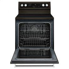 KitchenAid® 30-Inch 5-Element Electric Convection Range - Black Stainless