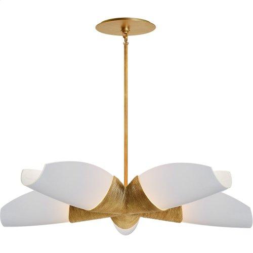 Visual Comfort KW5036G-WG Kelly Wearstler Utopia 5 Light 33 inch Gild Chandelier Ceiling Light