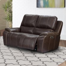 Potter Walnut Power Loveseat