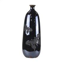 Ceramic Vase, Black