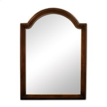 "26"" x 36"" Walnut reed-frame mirror with beveled glass"