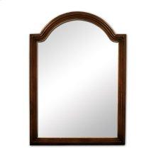 "26"" x 36"" Walnut reed-frame mirror with beveled glass"