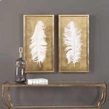 White Feathers Shadow Box, S/2