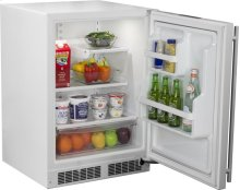 "24"" All Refrigerator with MaxStore Utility Bin (Marvel) - Smooth White Door, Right Hinge"