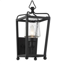 Libby Langdon for Crystorama Sylvan 1 Light Black Forged Wall Mount