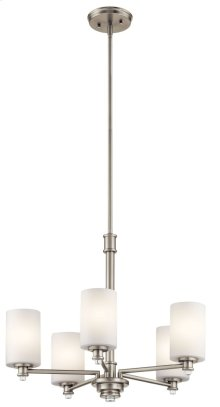 Joelson 5 Light Chandelier Brushed Nickel