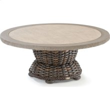 South Hampton Round Cocktail Table with Composite Top