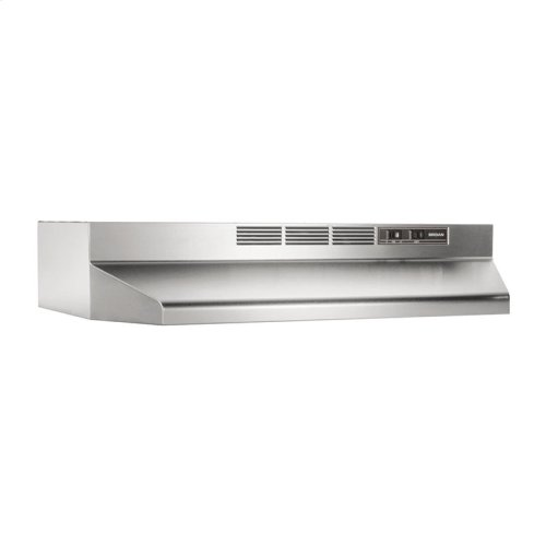 30-Inch Ductless Under Cabinet Range Hood with Light in Stainless Steel with EZ1 installation system