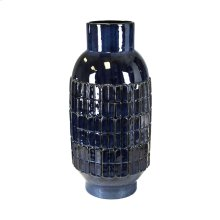 Decorative Ceramic Vase, Blue