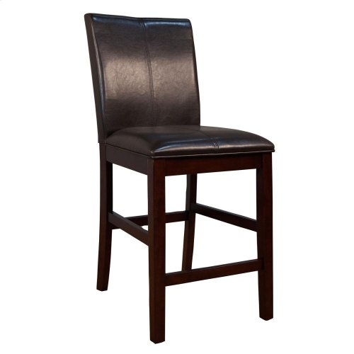 Curved Back Parson Stool-Brown