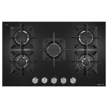 "Black Floating Glass 30"" 5-Burner Gas Cooktop"