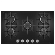 """Black Floating Glass 30"""" 5-Burner Gas Cooktop"""
