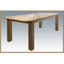 Homestead 4 Post Dining Table w Leaves- Stained and Lacquered