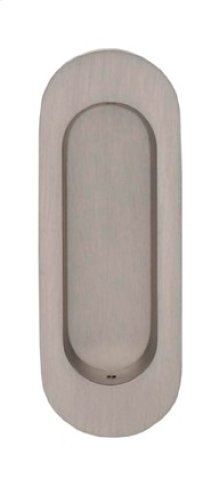 Modern Oval Flush Pull - Solid Brass in US10B (Oil-rubbed Bronze, Lacquered)