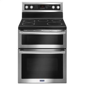 Maytag30-Inch Wide Double Oven Electric Range With True Convection - 6.7 Cu. Ft.