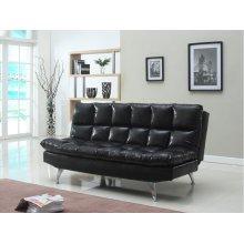 BLACK PU ADJUSTABLE SOFA BED