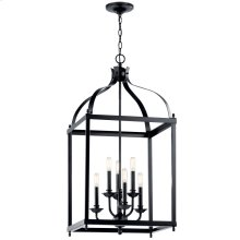 Larkin 6 Light Foyer Pendant Black