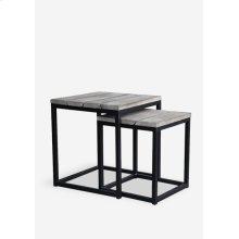 (LS) Denton Nesting Table Set of 2 - Vintage Grey (20x20x22 / 16x16x18.5)