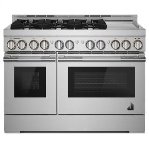 "Jenn-Air48"" RISE Gas Professional-Style Range with Chrome-Infused Griddle"