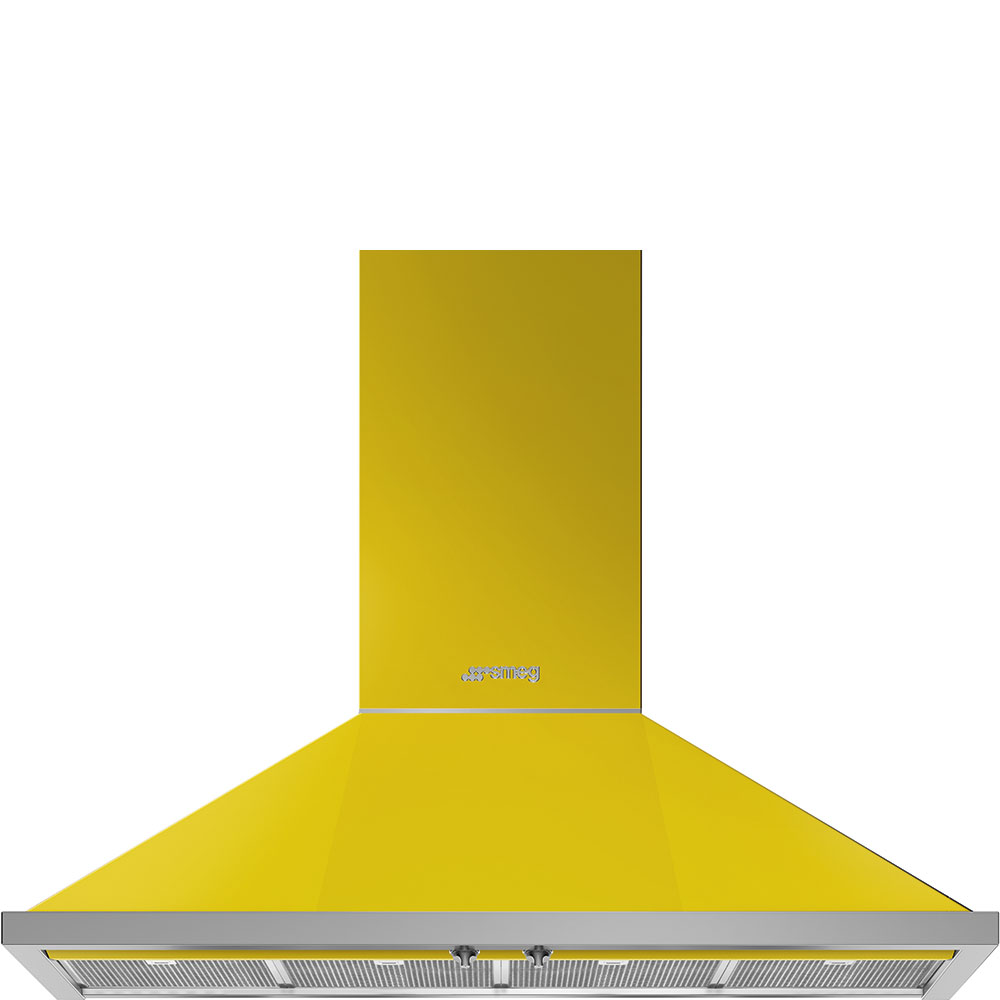 "Smeg48"" Portofino Chimney Hood, Yellow"