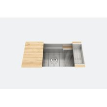 "SmartStation 005403 - undermount stainless steel Kitchen sink , 36"" × 18 1/8"" × 10"" (Maple)"