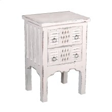 CC-TAB098LD-WW  Cottage Whitewashed End Table