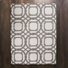 Arabesque Rug-Grey/Ivory-5' x 8'
