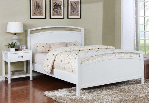 Reisa Solid Wood Night Stand - Gloss White