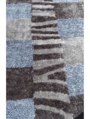 Shaggy Rug Grey Silk & Polyester Product Image