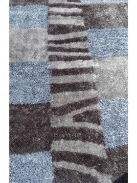 Shaggy Rug Grey Silk & Polyester