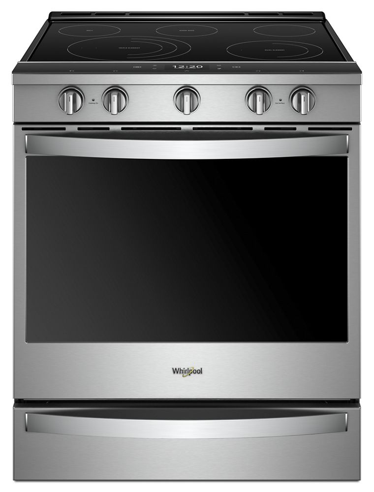 6.4 cu. ft. Smart Slide-in Electric Range with Scan-to-Cook Technology  FINGERPRINT RESISTANT STAINLESS STEEL