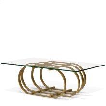 Allure Rectangular Glass Top Coffee Table