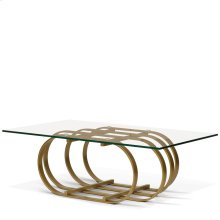 Allure Rectangular Glass Top Coffee Table