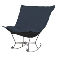 Scroll Puff Rocker Sterling Indigo Titanium Frame