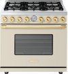 Range DECO 36'' Classic Cream matte, Gold 6 gas, gas oven