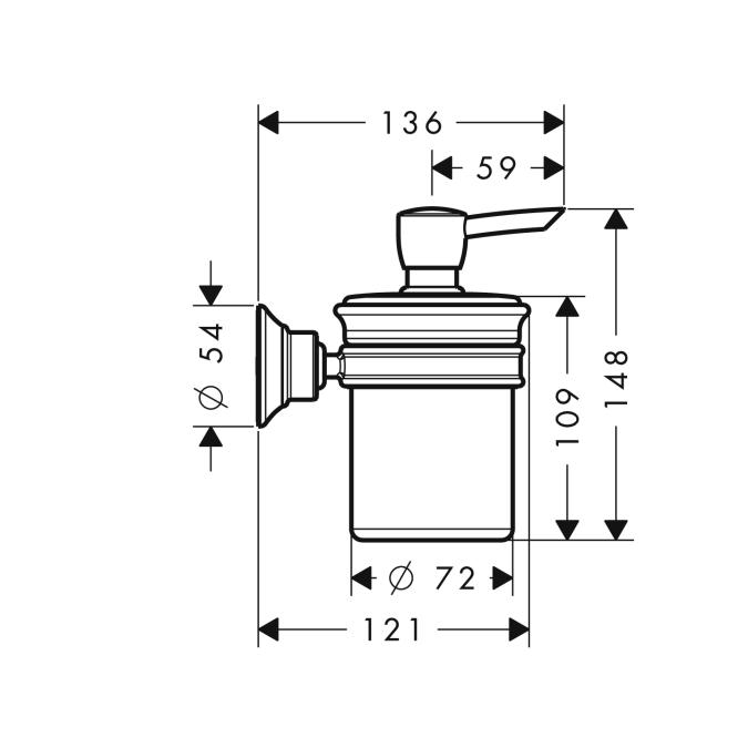Additional Chrome Soap/Lotion Dispenser