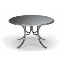 """50"""" Round Color Glass Dining Table With Hole"""