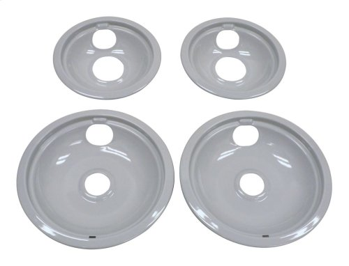 "Grey Drip Bowl Set, 2-6"", 2-8"""