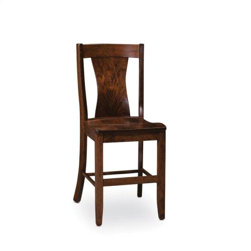 Joseph Stationary Barstool, Wood Seat